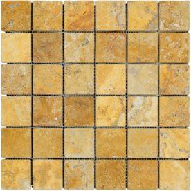 Mozaic Antichizat Travertin Yellow