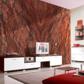 granit rosu living